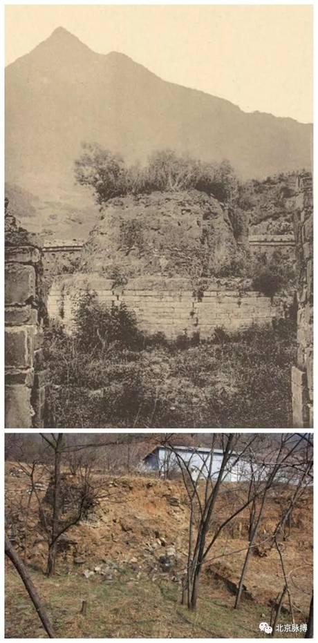 西陵坟丘小宝顶今昔(1941年)对比