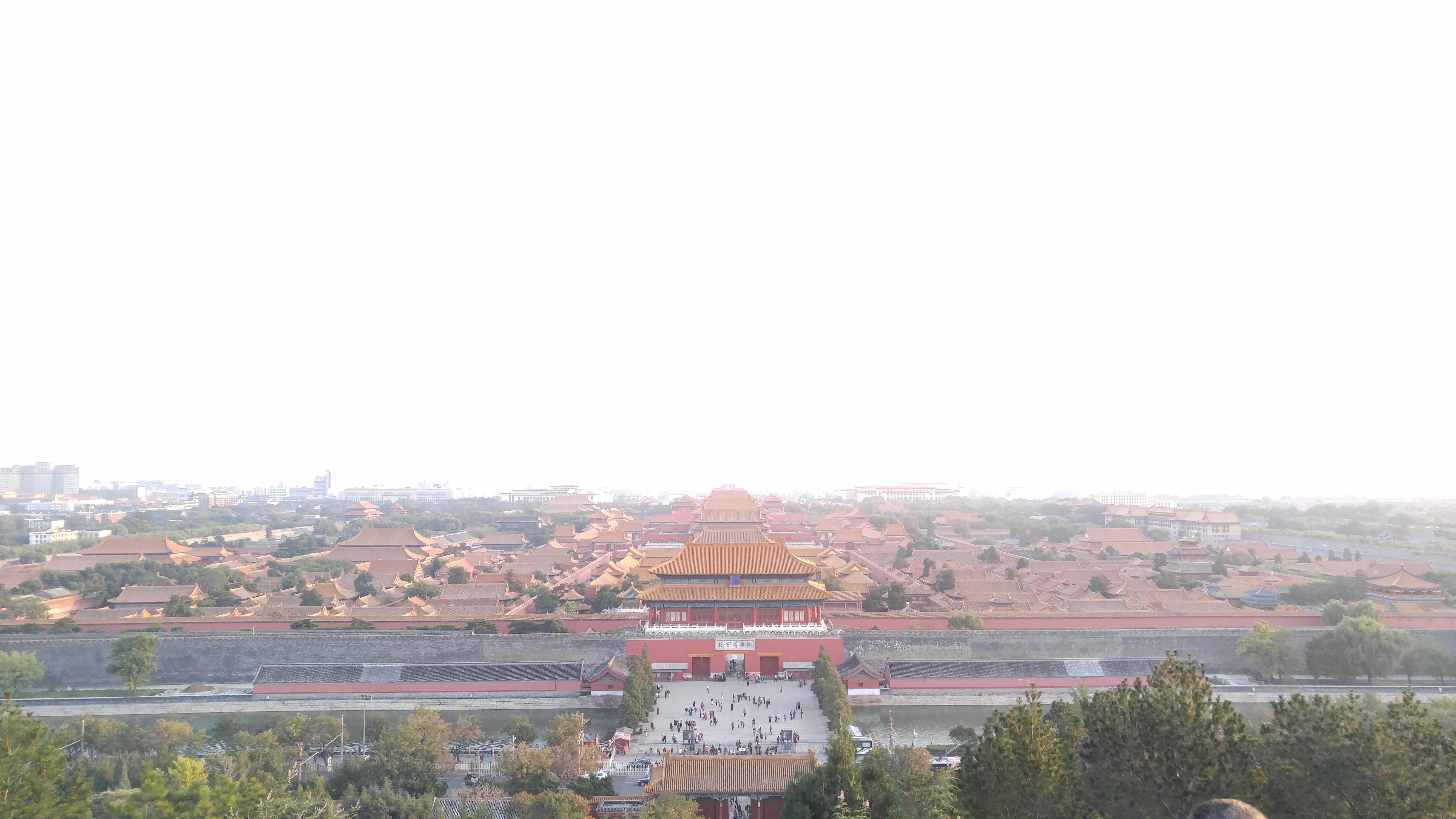 从景山公园扫视故宫全貌(Sweeping panorama of the Forbidden City from Jingshan park)