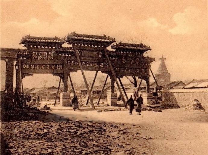 """1900s""""景德街""""西牌樓西面明信片"""